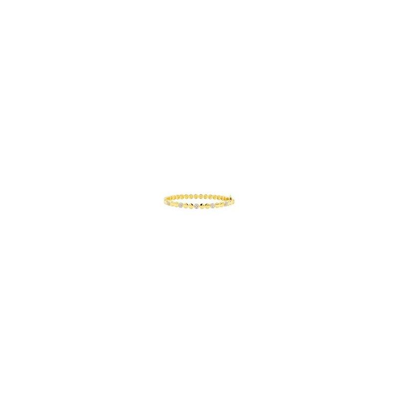 Freida Rothman RAD SS/14KYP/CZ PAVE DISC HINGE BANGLE