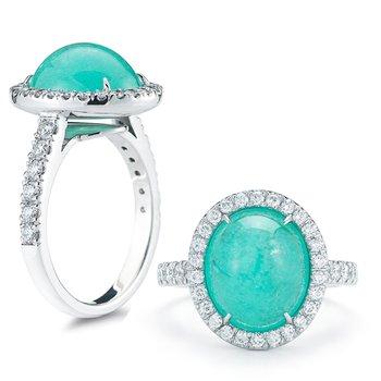 Pariaba Tourmaline and Diamond ring