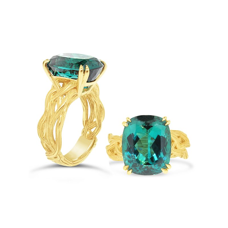 Aires Signature Collection Namibian Tourmaline Ring