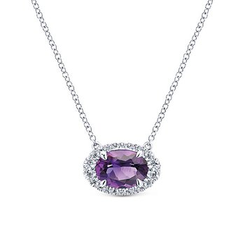 14KW .13CT DIA/ 1.18CT AMY NECKLACE