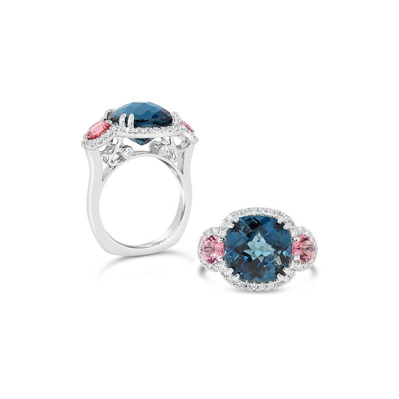 Aires Signature Collection topaz and tourmaline ring