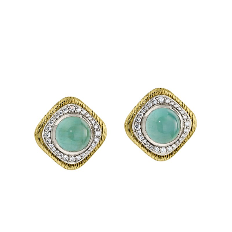 Aires Signature Collection Aquamarine and diamond earrings