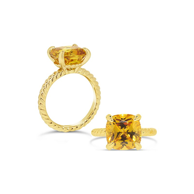 Aires Custom Fashion yellow sapphire ring