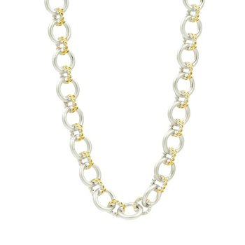 FB SS/14KYP/CZ CHAIN LINK NECKLACE