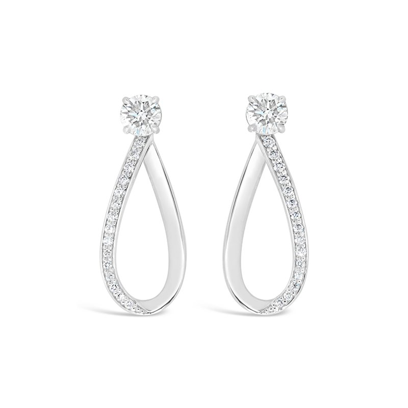 Aires Custom Fashion diamond drop earrings