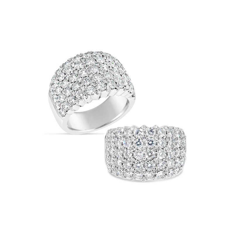 Aires Custom Bridal pave diamond band