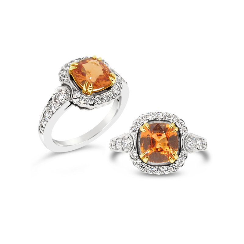 Aires Signature Collection Spessartite and Diamond ring