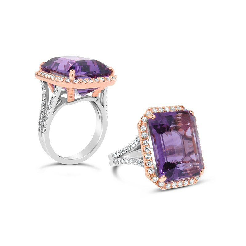 Aires Signature Collection Amethyst Gemstone Ring
