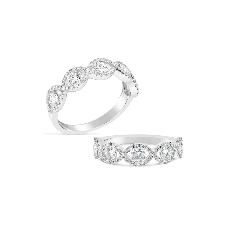 Aires Custom Bridal round diamond band