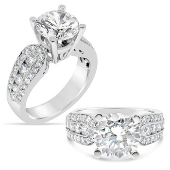 Round center diamond ring