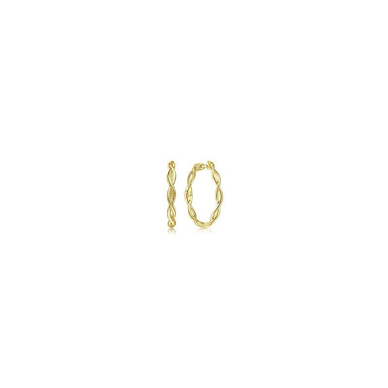 Gabriel Fashion 14KW TWIST HOOP EARR 25MM