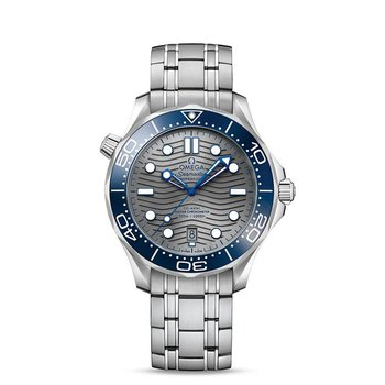 SeaMaster Diver 300m / automatic / 42mm / Blue Ceramic Bezel / Grey Dial / Stainless Steel Bracelet