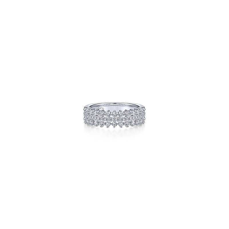 Gabriel Fashion 14KW .67CT DIA BAND
