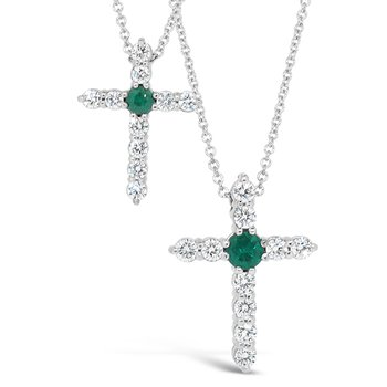 diamond and emerald cross