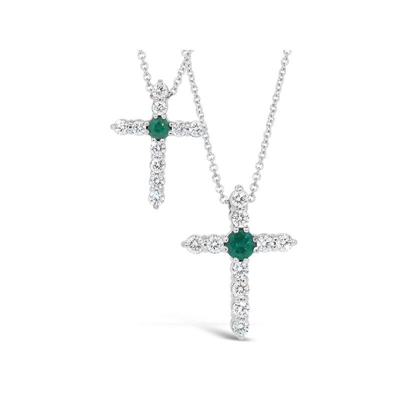 Aires Custom Fashion diamond and emerald cross