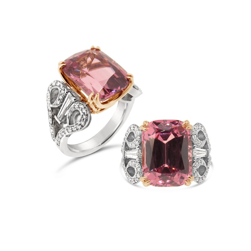 Aires Signature Collection Malaia Garnet and Diamond ring