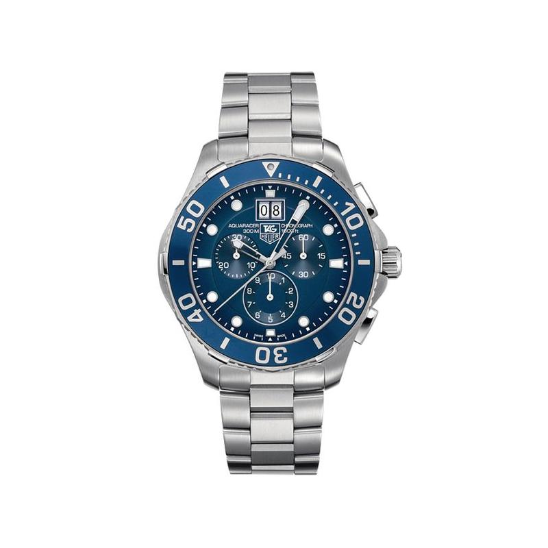 Tag Heuer Aquaracer Chronograph Blue Dial Men's