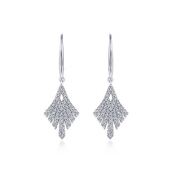 14KW .66CT DIA FANCY DROP EARRINGS