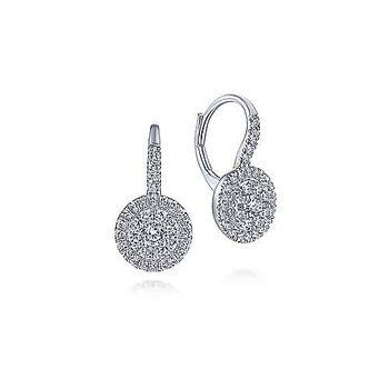 14KW DIA .81CT ROUND DROP EARRINGS