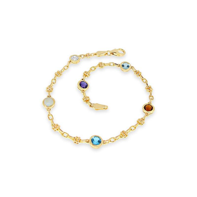 Aires Custom Fashion birthstone bracelet