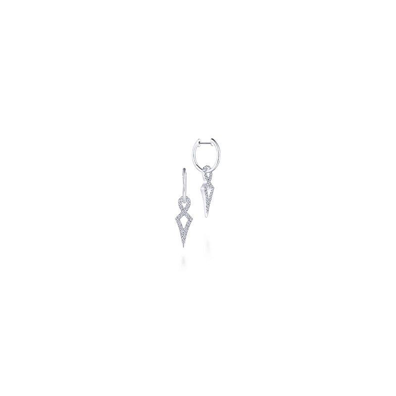 Gabriel Fashion 14KW .30CT DIA TWIST POINT EARR