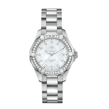 Aquaracer Mother of Pearl Diamond Dial Ladies Watch