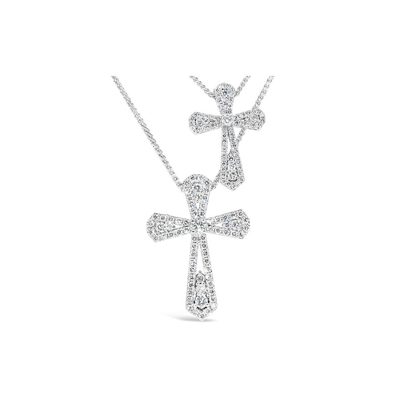 Aires Custom Fashion diamond cross pendant