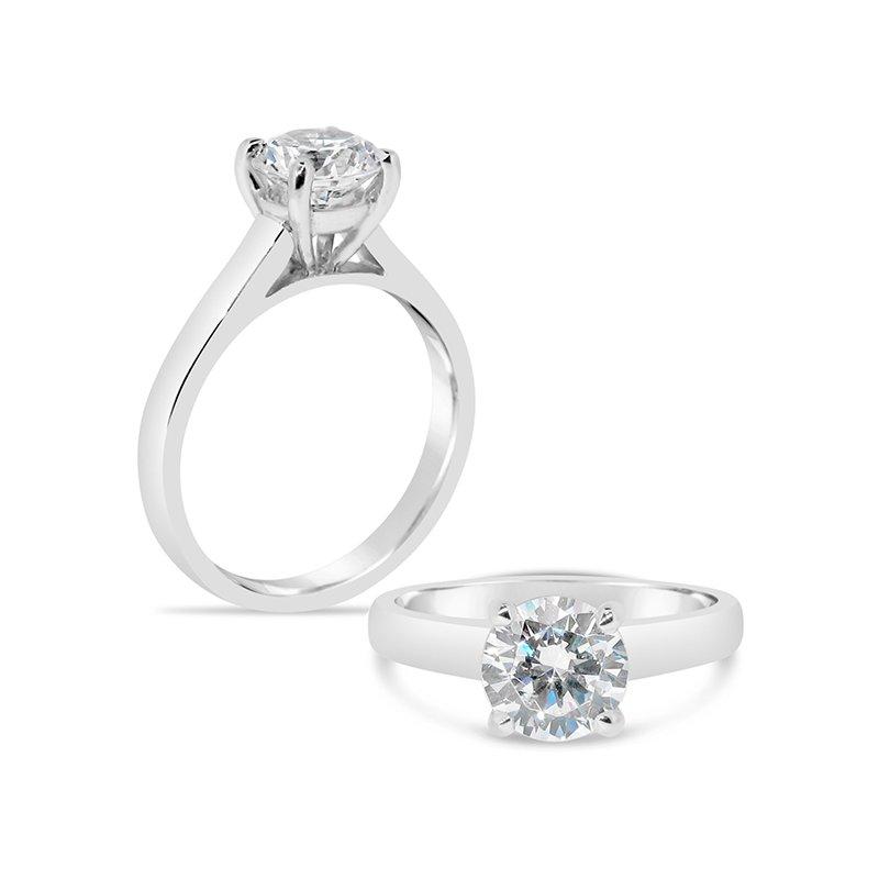 Aires Custom Bridal round solitaire ring