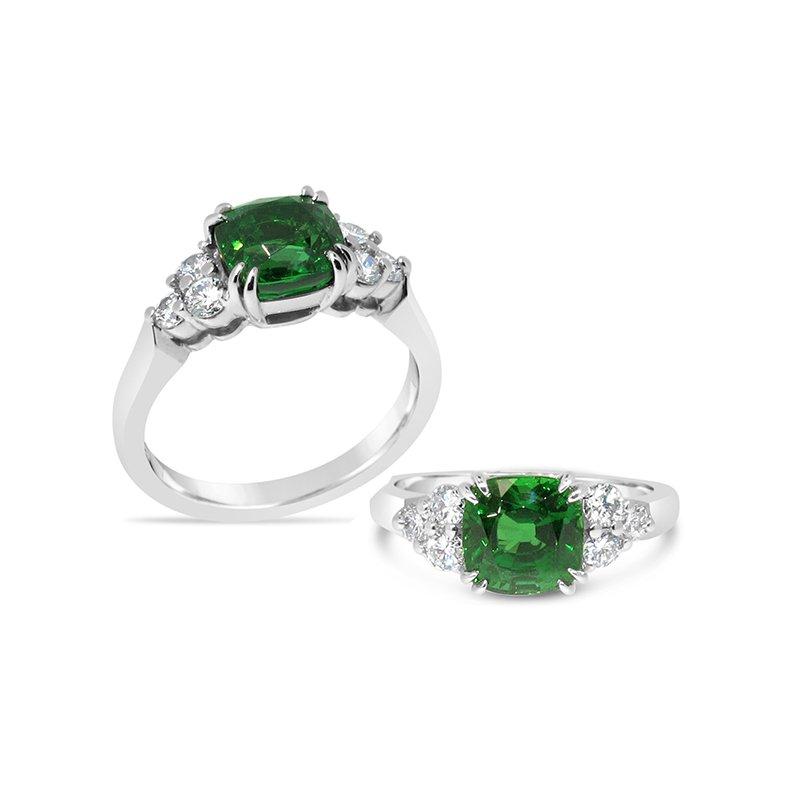 Aires Custom Fashion tsavorite garnet ring