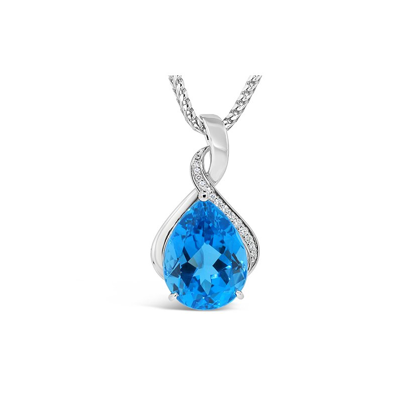 Aires Signature Collection blue topaz pendant