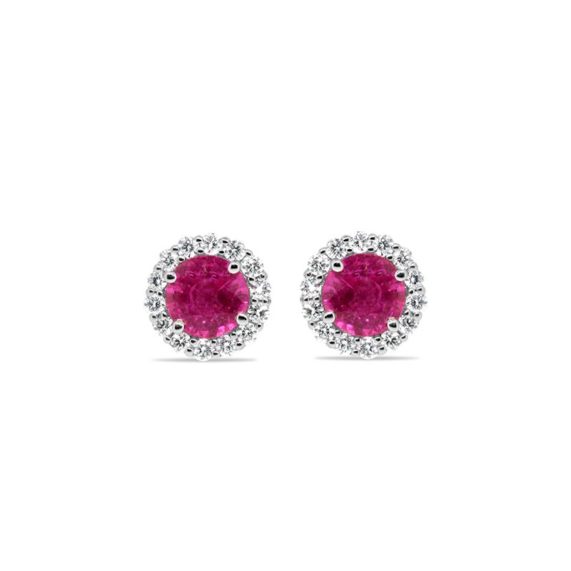 Aires Custom Fashion pink sapphire earrings