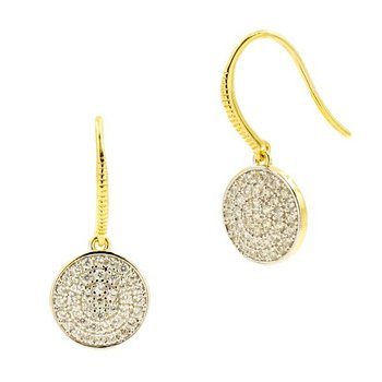 RAD SS/14KYP/CZ PAVE DISC EARRINGS