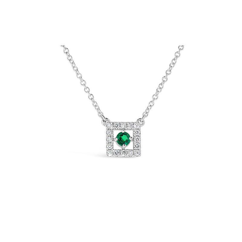Aires Custom Fashion emerald and diamond pendant