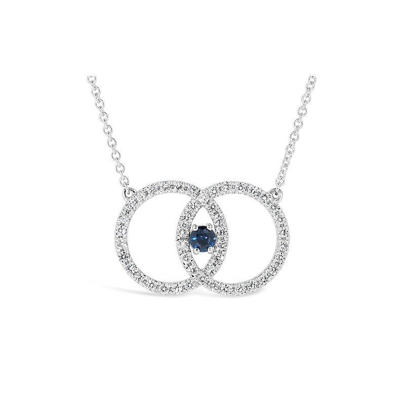 Aires Custom Fashion diamond and sapphire pendant