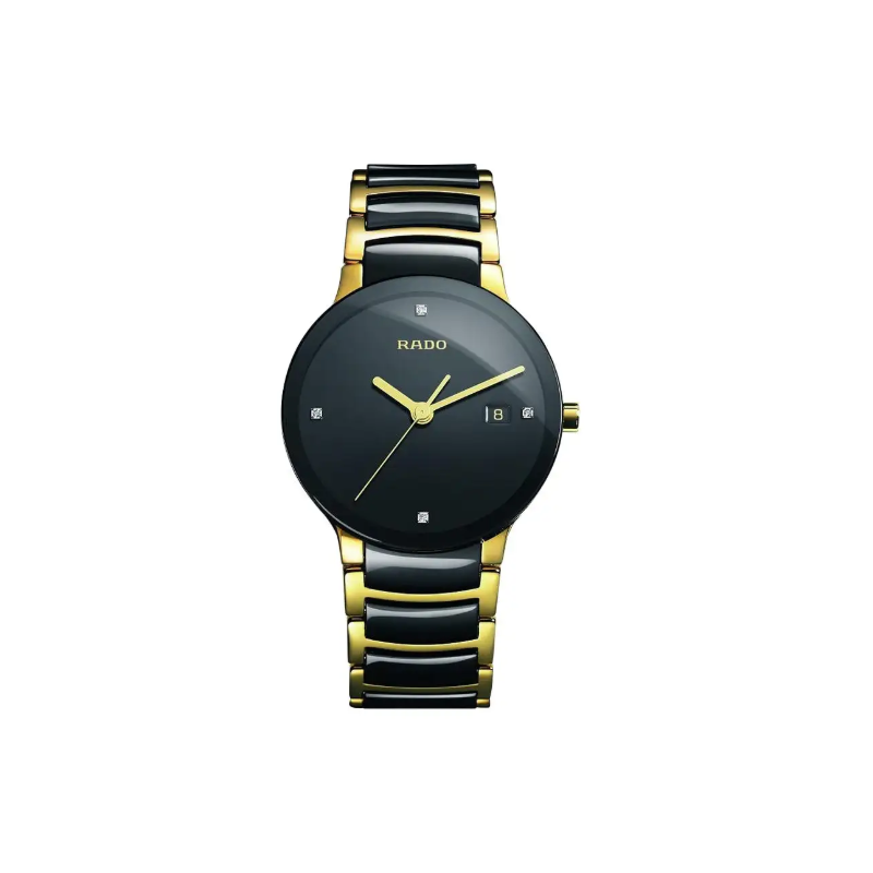 Rado Rado Centrix Diamonds Black Ceramic Men's Watch R30929712