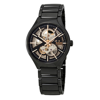True Automatic Open Heart Black/Skeleton Dial Men's High-Tech Ceramic Watch