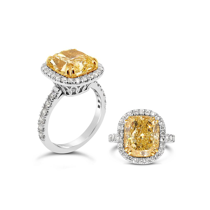 Aires Signature Collection Fancy Yellow Diamond ring