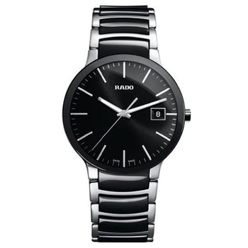 Rado R30934162 Centrix Ceramic Mens Watch - Black Dial