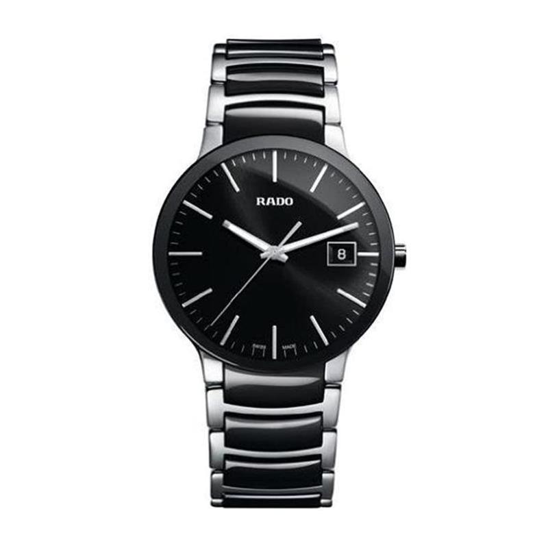 Rado Rado R30934162 Centrix Ceramic Mens Watch - Black Dial