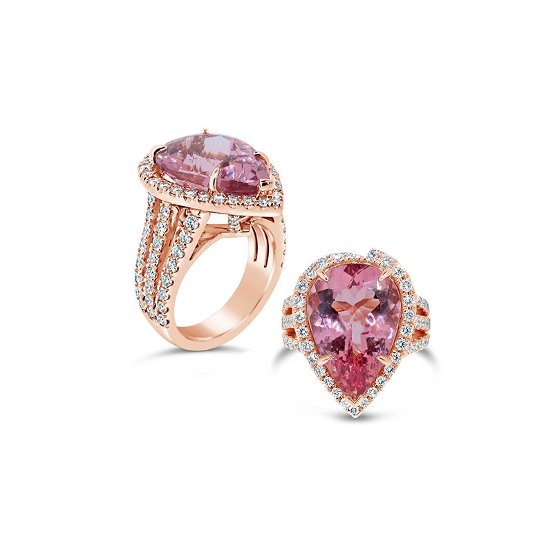 Aires Signature Collection morganite diamond ring