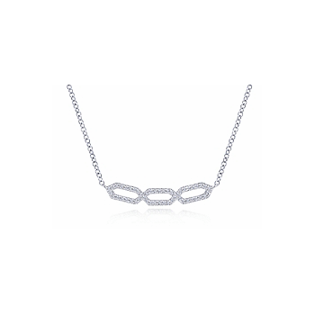 14KW .26CT DIA OPEN DESIGN SMILE NECKLACE
