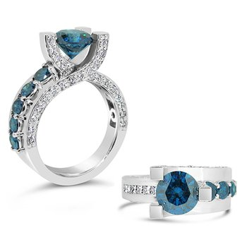 blue diamond ring