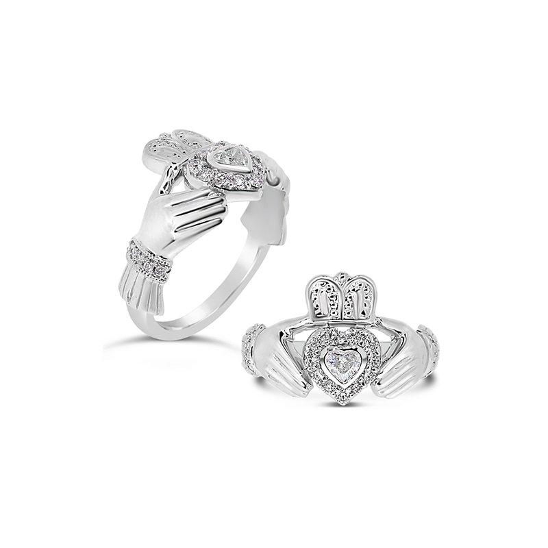 Aires Custom Fashion claddagh diamond ring