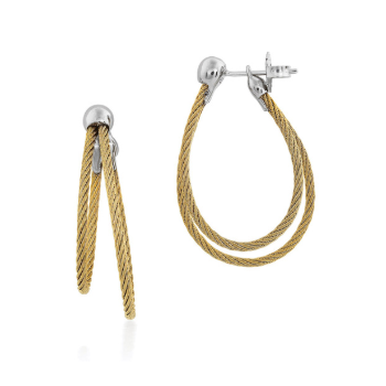 Yellow cable, 18kt. White Gold w/stainless steel