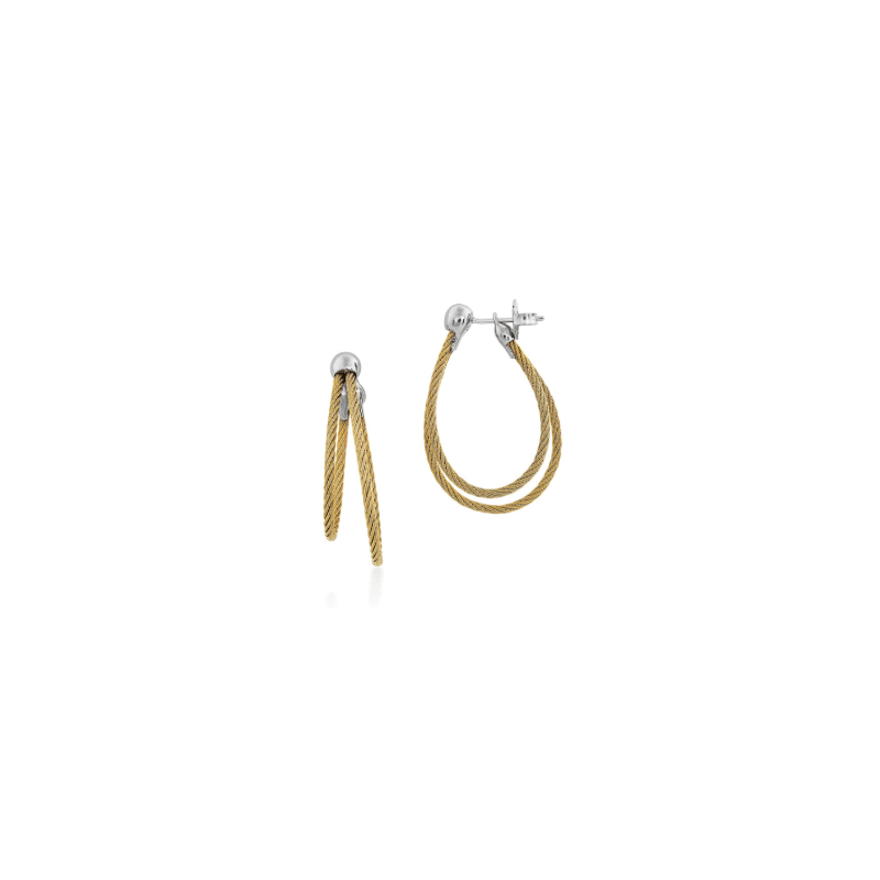 ALOR Yellow cable, 18kt. White Gold w/stainless steel