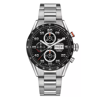 Men's Swiss Automatic Chronograph Carrera Calibre 16 Stainless Steel Bracelet Watch 43mm