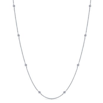 14KW .13CT DIA BY YARD NECKLACE 16""