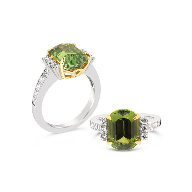 Aires Signature Collection Tourmaline and Diamond ring