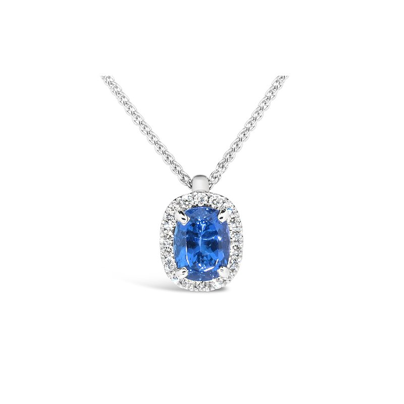 Aires Custom Fashion tanzanite and diamond pendant