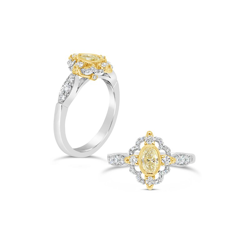 Aires Custom Fashion yellow diamond ring
